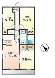 ソレイユ8[3階]の間取り