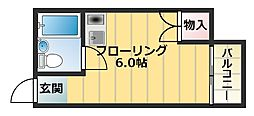 エテルナ長瀬[2階]の間取り