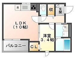 ガロファニーノ[4階]の間取り
