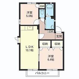 スガヤビレッジ4 101号室[1階]の間取り