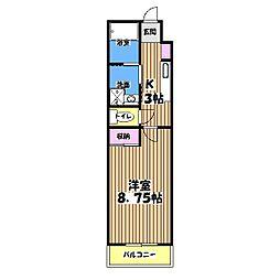 スターダスト晴貞[3階]の間取り
