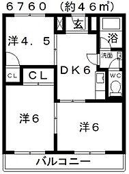 藤原マンション(大井)[305号室号室]の間取り