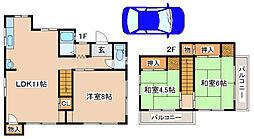 [一戸建] 兵庫県神戸市東灘区西岡本5丁目 の賃貸【/】の間取り