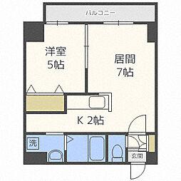 サムティレジデンスN23[7階]の間取り