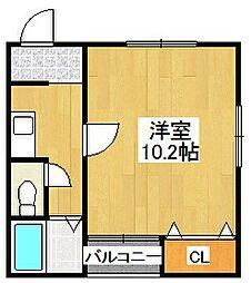 川島ハイツ[3階]の間取り