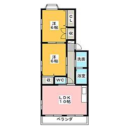 グランデージ志都呂館I[2階]の間取り