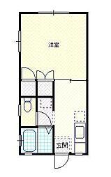 新潟県新発田市舟入町2丁目の賃貸アパートの間取り