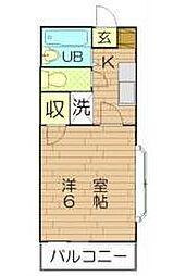 池田アパート[1階]の間取り