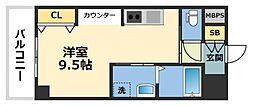 La CASA新深江[402号室号室]の間取り