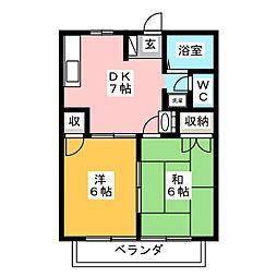 ハニーハイツ[2階]の間取り
