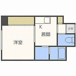 北海道札幌市中央区南十条西18丁目の賃貸マンションの間取り