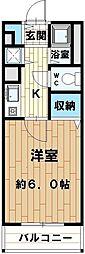 クレスト花野[305号室]の間取り