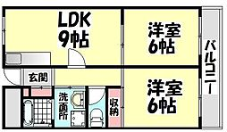 大阪府高石市東羽衣3丁目の賃貸アパートの間取り