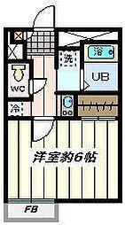 東京都葛飾区東四つ木2丁目の賃貸マンションの間取り