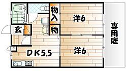 ウインドワードMIYAKI[1階]の間取り