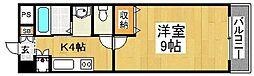 住吉橋TKハイツ[7階]の間取り