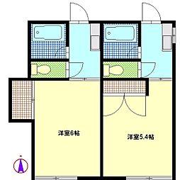 進栄ハイツ[2階]の間取り