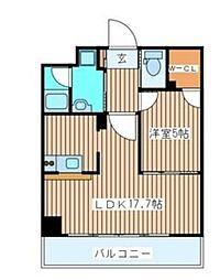 仙台市営南北線 北四番丁駅 徒歩1分の賃貸マンション 12階1LDKの間取り
