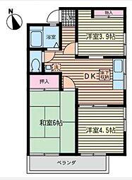 ラ・フォーレ湘南[2階]の間取り
