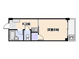 ビレッジ中央[5階]の間取り