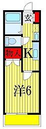 千葉県習志野市東習志野4丁目の賃貸アパートの間取り