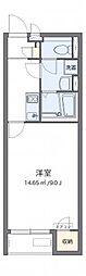 クレイノ百合桜[203号室]の間取り