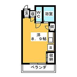 メゾンリラック[2階]の間取り