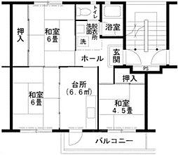 UR泉北桃山台1丁団地[4階]の間取り