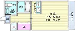 仙台市営南北線 泉中央駅 徒歩4分の賃貸マンション 1階ワンルームの間取り
