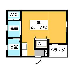 WELL−BEING上条[2階]の間取り
