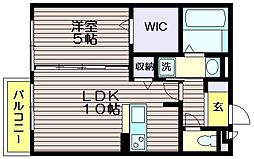 東京都三鷹市新川4の賃貸アパートの間取り