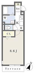 JR京浜東北・根岸線 大宮駅 徒歩10分の賃貸アパート 1階1Kの間取り