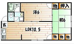 グリーンハイツ別院[2階]の間取り