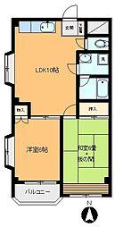 浅香コーポ[305号室]の間取り