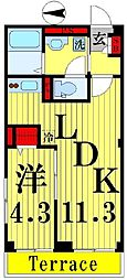 (仮)D-room千住河原町[103号室]の間取り