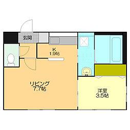 仮)江別市東野幌本町5-26MS[205号室]の間取り