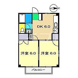 コーポ竹内I[2階]の間取り