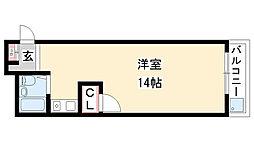 愛知県名古屋市瑞穂区西ノ割町2丁目の賃貸アパートの間取り