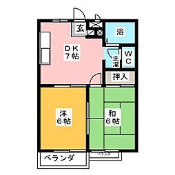 シャトースズキ[2階]の間取り