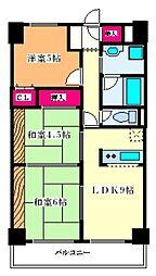 大阪府大阪市淀川区新北野2丁目の賃貸マンションの間取り