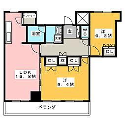 ザ・ライオンズ一条タワー岐阜[23階]の間取り