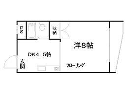 エスポワール田中[2階]の間取り