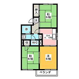 フローラ園[2階]の間取り
