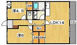 レジデンス''21[1階]の間取り