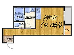 大阪府堺市堺区宿屋町東3丁の賃貸アパートの間取り