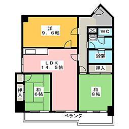 廣澤大協ハイツ[7階]の間取り
