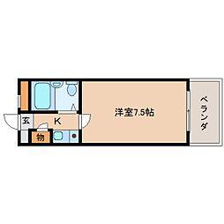 奈良県生駒市辻町の賃貸マンションの間取り