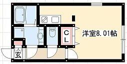 Branche桜山III 5階1Kの間取り