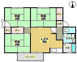 メゾンソシアルA棟[1階]の間取り