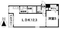 愛知県名古屋市千種区千種通5丁目の賃貸マンションの間取り